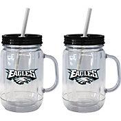 Boelter Philadelphia Eagles 20oz Handled Straw Tumbler 2-Pack