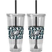 Boelter Philadelphia Eagles Bold Sleeved 22oz Straw Tumbler 2-Pack