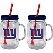 Boelter New York Giants 20oz Handled Straw Tumbler 2-Pack