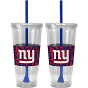 Boelter New York Giants Bold Sleeved 22oz Straw Tumbler 2-Pack