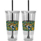Boelter Jacksonville Jaguars Bold Sleeved 22oz Straw Tumbler 2-Pack