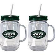 Boelter New York Jets 20oz Handled Straw Tumbler 2-Pack