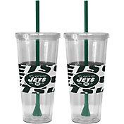 Boelter New York Jets Bold Sleeved 22oz Straw Tumbler 2-Pack