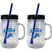 Boelter Detroit Lions 20oz Handled Straw Tumbler 2-Pack