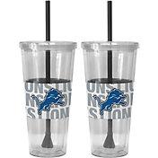 Boelter Detroit Lions Bold Sleeved 22oz Straw Tumbler 2-Pack