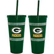 Boelter Green Bay Packers Bling 22oz Straw Tumbler 2-Pack