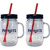 Boelter New England Patriots 20oz Handled Straw Tumbler 2-Pack