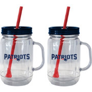 Boelter New England Patriots 20oz Handled Straw Tumbler 2-Pack