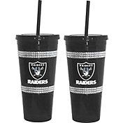 Boelter Oakland Raiders Bling 22oz Straw Tumbler 2-Pack