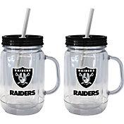 Boelter Oakland Raiders 20oz Handled Straw Tumbler 2-Pack