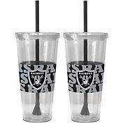 Boelter Oakland Raiders Bold Sleeved 22oz Straw Tumbler 2-Pack