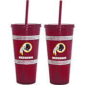 Boelter Washington Redskins Bling 22oz Straw Tumbler 2-Pack