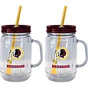 Boelter Washington Redskins 20oz Handled Straw Tumbler 2-Pack