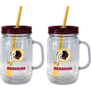 Boelter Washington Redskins 20oz Handled Straw Tumbler 2-Pack