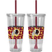 Boelter Washington Redskins Bold Sleeved 22oz Straw Tumbler 2-Pack