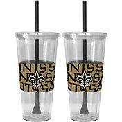 Boelter New Orleans Saints Bold Sleeved 22oz Straw Tumbler 2-Pack