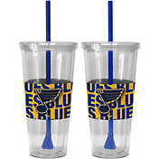 Boelter St. Louis Blues Bold Sleeved 22oz Straw Tumbler 2-Pack