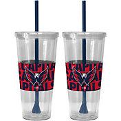 Boelter Washington Capitals Bold Sleeved 22oz Straw Tumbler 2-Pack