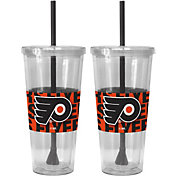 Boelter Philadelphia Flyers Bold Sleeved 22oz Straw Tumbler 2-Pack