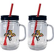 Boelter Florida Panthers 20oz Handled Straw Tumbler 2-Pack