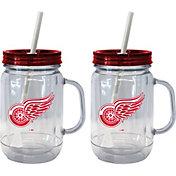 Boelter Detroit Red Wings 20oz Handled Straw Tumbler 2-Pack