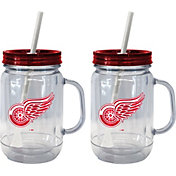 Boelter Detroit Red Wings 20oz Handled Straw Tumbler 2-Pack