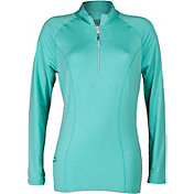 Bette & Court Women's Cool Elements Odyssey Quarter-Zip Golf Mock