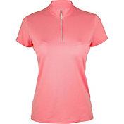 Bette & Court Women's Cool Elements Swing Mock Golf Polo