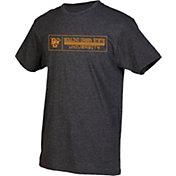 boxercraft Men's Bowling Green Falcons Grey Just for You Crew Block Wordmark and Logo T-Shirt