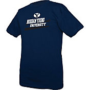 boxercraft Men's BYU Cougars Blue Just for You Crew Wordmark and Logo T-Shirt
