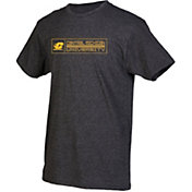 boxercraft Men's Central Michigan Chippewas Grey Just for You Crew Block Wordmark and Logo T-Shirt