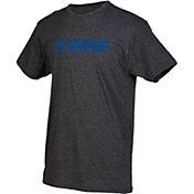 boxercraft Men's Creighton Bluejays Grey Just for You Crew Block Wordmark and Logo T-Shirt