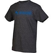 boxercraft Men's Air Force Falcons Grey Just for You Crew Block Wordmark and Logo T-Shirt