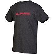 boxercraft Men's Fresno State Bulldogs Grey Just for You Crew Block Wordmark and Logo T-Shirt