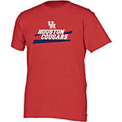 boxercraft Men's Houston Cougars Red Just for You Crew Wordmark and Logo T-Shirt