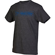 boxercraft Men's Memphis Tigers Grey Just for You Crew Block Wordmark and Logo T-Shirt