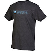 boxercraft Men's Maine Black Bears Grey Just for You Crew Block Wordmark and Logo T-Shirt