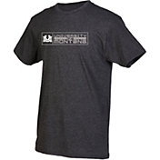 boxercraft Men's Montana Grizzlies Grey Just for You Crew Block Wordmark and Logo T-Shirt
