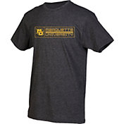 boxercraft Men's Marquette Golden Eagles Grey Just for You Crew Block Wordmark and Logo T-Shirt