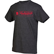 boxercraft Men's NC State Wolfpack Grey Just for You Crew Block Wordmark and Logo T-Shirt
