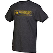 boxercraft Men's North Dakota State Bison Grey Just for You Crew Block Wordmark and Logo T-Shirt