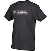 boxercraft Men's New Hampshire Wildcats Grey Just for You Crew Block Wordmark and Logo T-Shirt