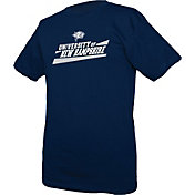 boxercraft Men's New Hampshire Wildcats Blue Just for You Crew Wordmark and Logo T-Shirt