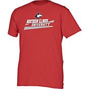 boxercraft Men's Northern Illinois Huskies Cardinal Just for You Crew Wordmark and Logo T-Shirt