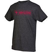 boxercraft Men's New Mexico Lobos Grey Just for You Crew Block Wordmark and Logo T-Shirt