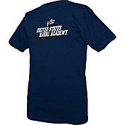 boxercraft Men's Navy Midshipmen Just for You Crew Wordmark and Logo Navy T-Shirt