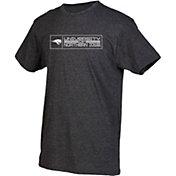 boxercraft Men's Northern Iowa Panthers Grey Just for You Crew Block Wordmark and Logo T-Shirt