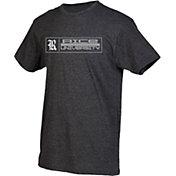 boxercraft Men's Rice Owls Grey Just for You Crew Block Wordmark and Logo T-Shirt