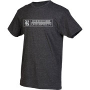 boxercraft Men's Rice Owls Grey Just for You Crew Block Wordmark and Logo T-Shirt