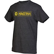 boxercraft Men's Oregon Ducks Grey Just for You Crew Block Wordmark and Logo T-Shirt